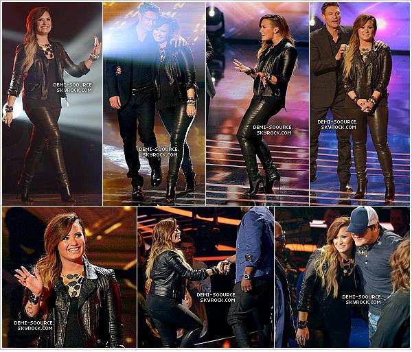 *  16.04.2014 : Demi a été vue arrivant aux studios de l'émission American Idol.    *