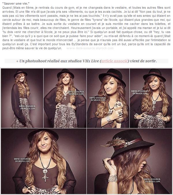 *  Demi Lovato a participé au projet ByStander Revolution, en 2013.    *