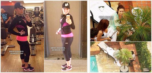 *  21.04.2014 : Demi a salué les fans depuis son balcon toute la matinée. (Sao Paulo)      *