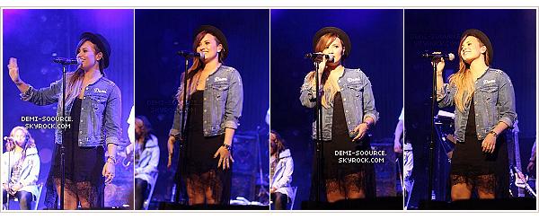 *  30.04.2014 : Demi a poursuivit sa tournée à Brasilia, au Brésil.        *