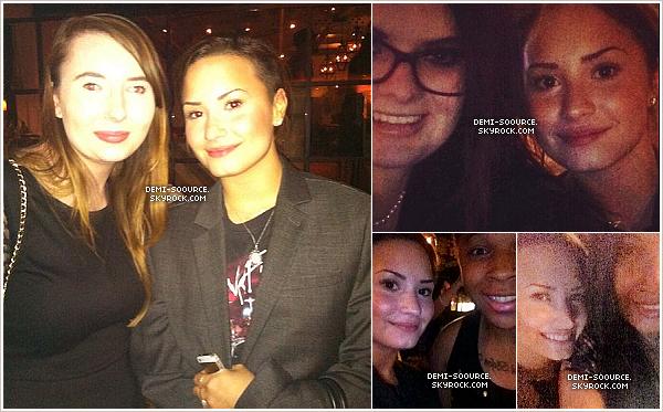 *  19.05.2014 : Des fans ont croisé Demi (et Wilmer) au restaurant, en Californie.    *