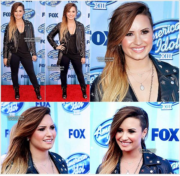 *  21.05.2014 : Demi a assisté à la finale d'American Idol, en Californie.    *