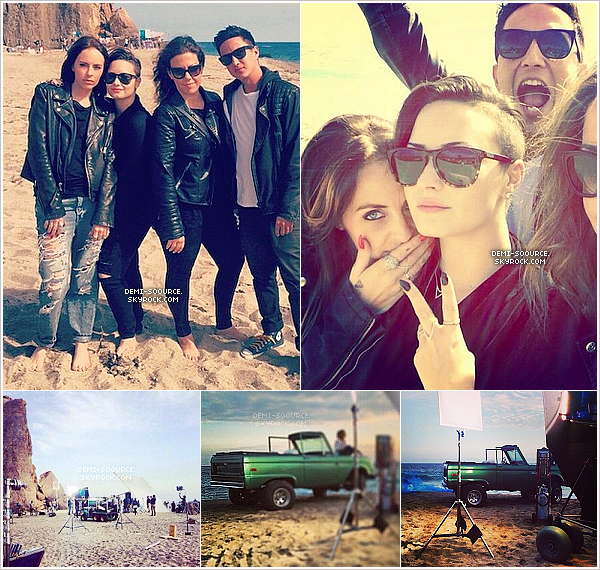 "*  22.05.2014 : Demi a tourné le clip pour ""Somebody to you"" sur la plage, à Malibu.     *"