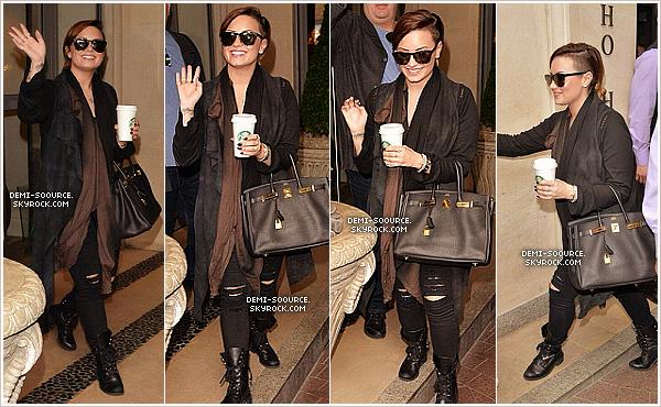*  31.05.2014 : Demi a été vue quittant son hôtel, ce matin à Londres. (Angleterre) *