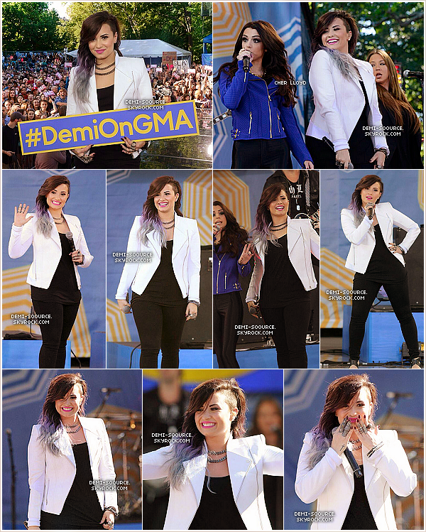 *  06.06.2014 : Demi a chanté dans l'émission Good Morning America, à Central Park. (NY) *