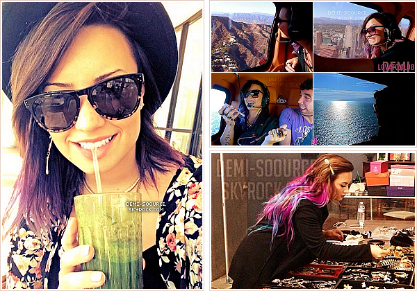 *« My favorite way to get my greens in.... ✌ » - Demi via Twitter le 23 juillet.   *