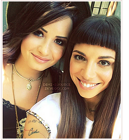 *Le 5 août, Demi et Christina Perri se sont vues pour préparer la tournée ! (LA)  *