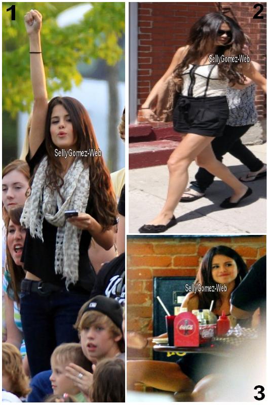 . Journée du 3 juin : 1ere photo Selena au match de foot de Justin, 2eme photo Selena & Justin quitte le Thompson Candies Rhéo à Stratford et la 3eme photo Selena & Justin dejeunent a Toronto. .