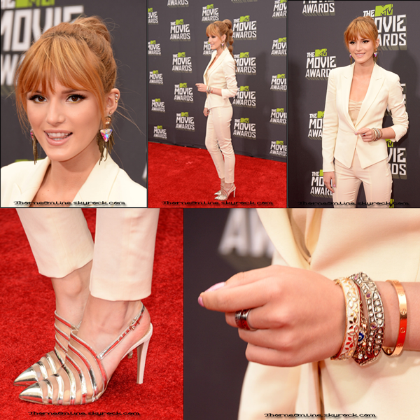 • Bella sur le tapis rouge des MTV Movie Awards ce 14 Avril 2013.