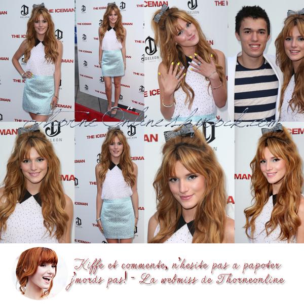 """Bella Thorne à la première de """"The Iceman"""" ce 22 Avril 2013."""