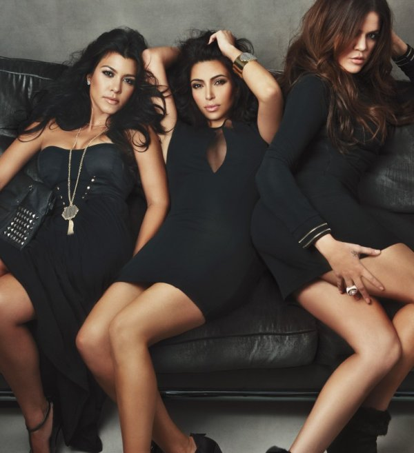 Photoshooot pour la collection de lingerie des Kardashian .