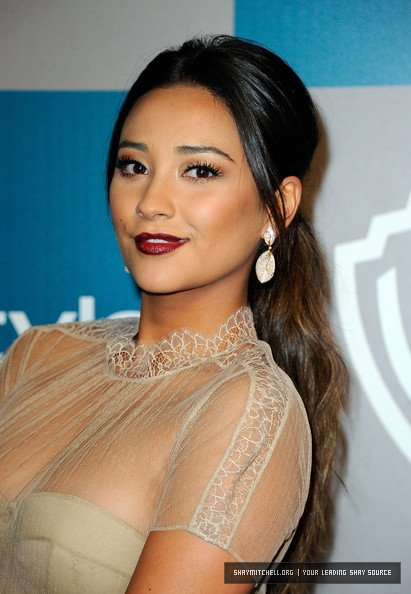 Shay Mitchell : InStyle Golden Globes Party .