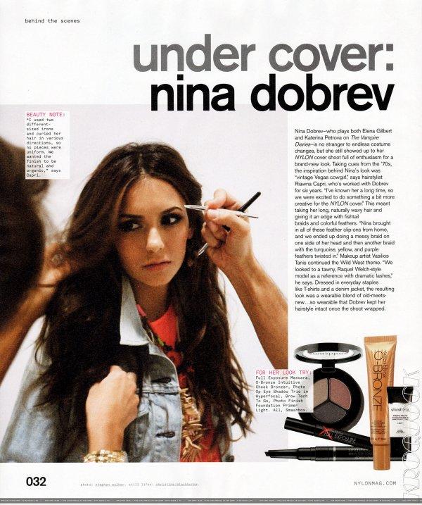 Nina Dobrev pose pour Nylon .
