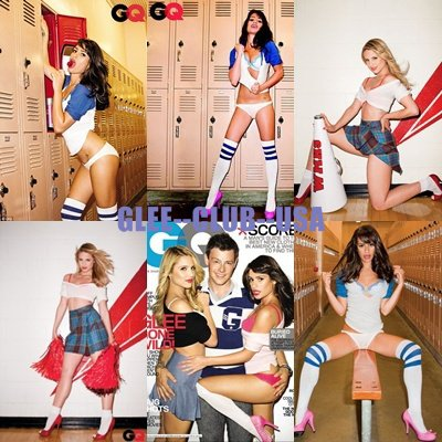 GLEE en couverture de GQ Magazine - 19.10.2010