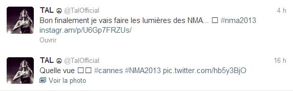 Tal à Cannes pour les Nrj Music Awards