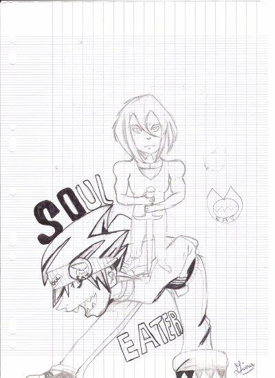 Dessin n°9(Soul Eater et un personnage inconnu)