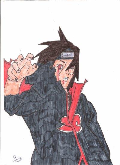 Dessin n°13 ( Itachi quand il se bat contre son frere )