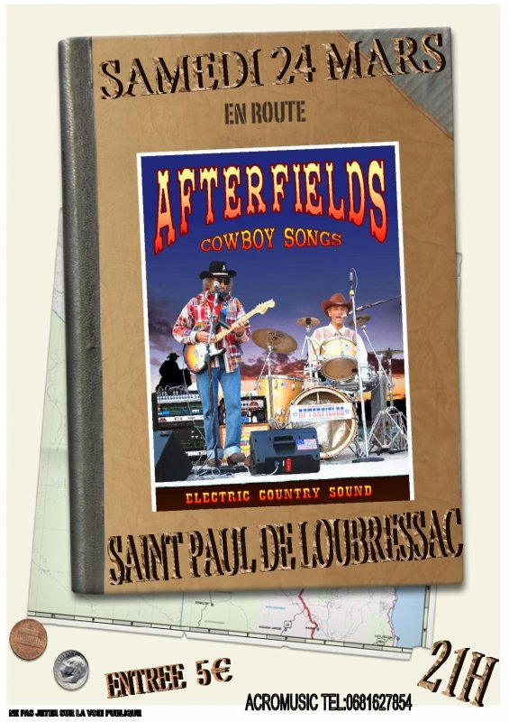 24 mars concert country avec afterfields