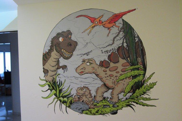 Fresque Dinosaures
