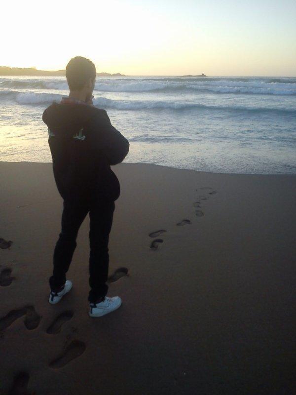 moi en la  plage