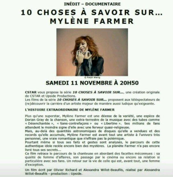Mylène Farmer - 11 novembre sur c star