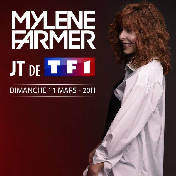 Mylène Farmer invitée du JT de 20 heures dimanche sur TF1