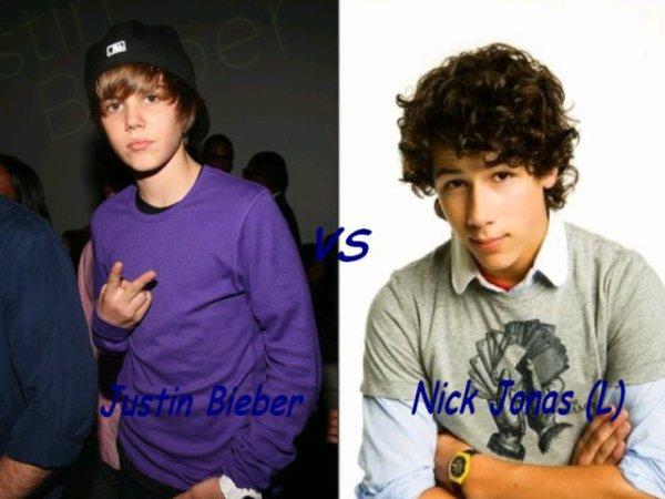 Justin bieber VS Nick Jonas