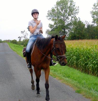 Qui a dis que l'équitation n'étais pas un sport ... Alors pourquoi j'ai des muscles??? mdr
