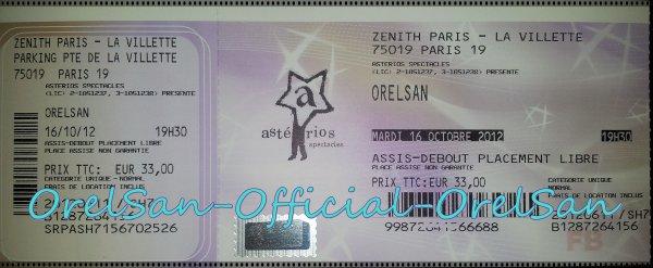 Vente billet OrelSan - Zénith de Paris - 16 Octobre - 19h30