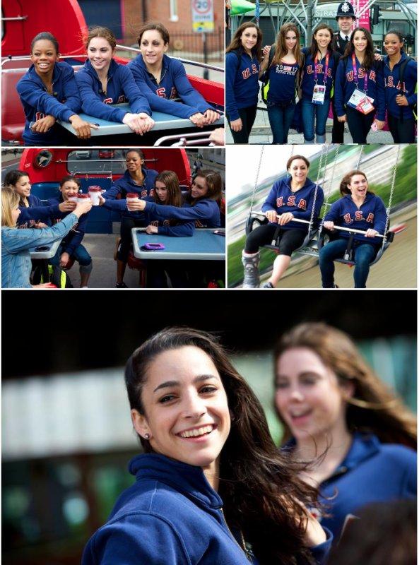 Les gymnastes américaines font un tour dans Londres.