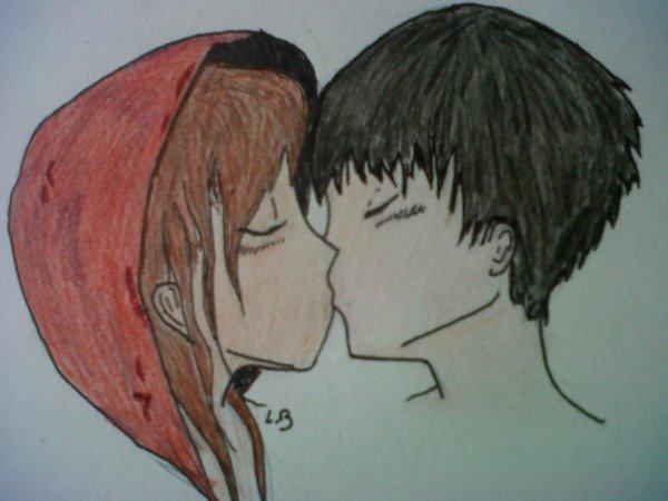 """""""Un doux baiser""""  (achevé)"""