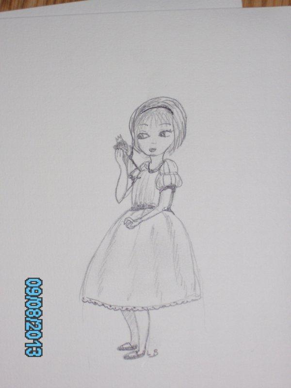 """""""Petite fille jouant avec une poupée"""""""