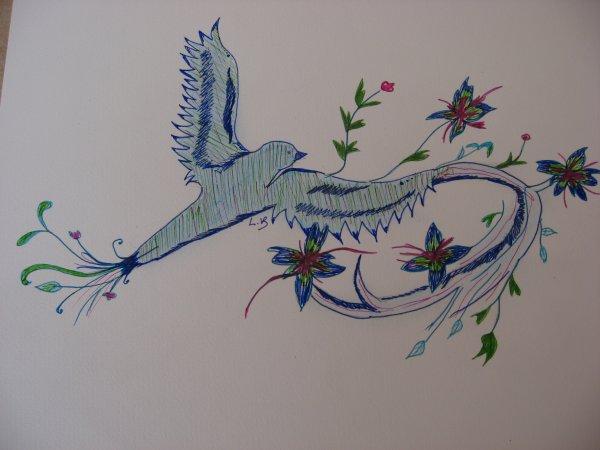 """""""oiseau fleuri"""""""