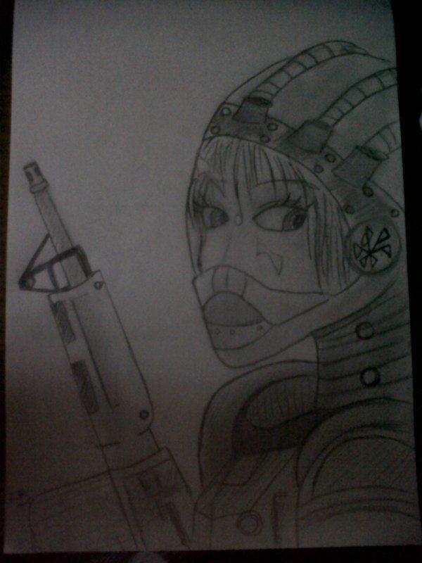 soldat feminin spatial