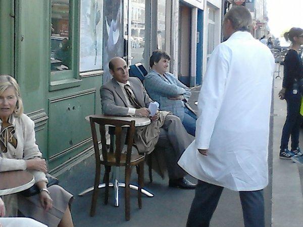 Bernard campan qui tourné un film dans ma rue :)