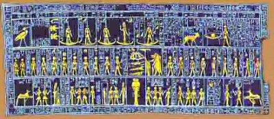 Le calendrier égyptien ou calendrier nilotique (du Nil).