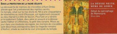 Croyances et religions de l'Egypte n°1 : Les animaux sacrés (5e partie).