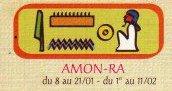 Le signe égyptien d'Amon-Rê.