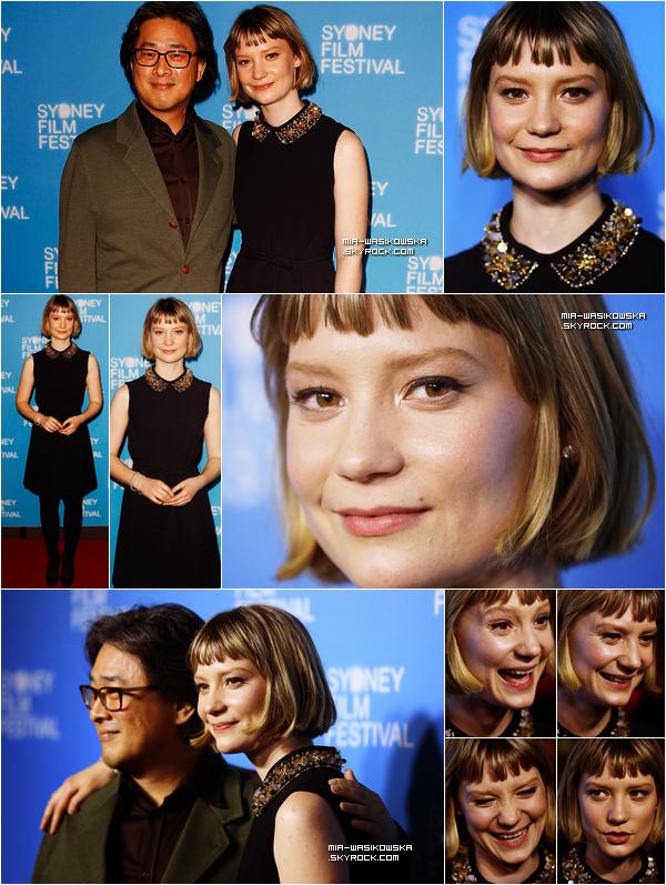07/06/13: Mia Wasikowska était à la première australienne de son film Stoker.