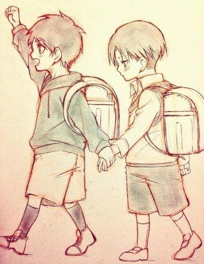 Rivaille x Eren