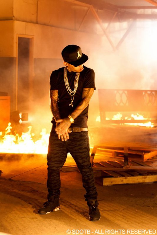 """Check back next week his new video for """"Bad Ass.""""  when it officially drops."""