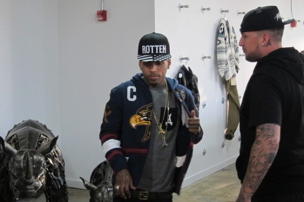 Kid Ink & DJ ill Will at the Ecko Unltd.office while in New York ..