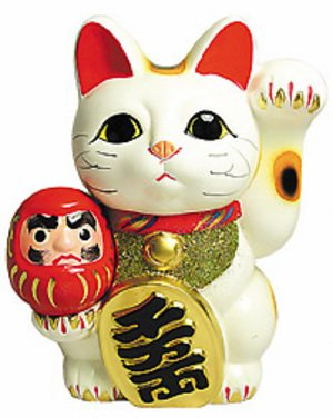 Hello kitty rappelle à certains le maneki-neko