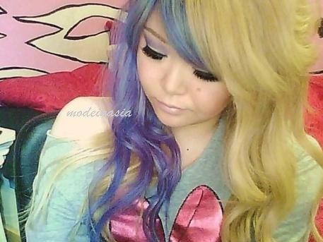 Les cheveux bicolores