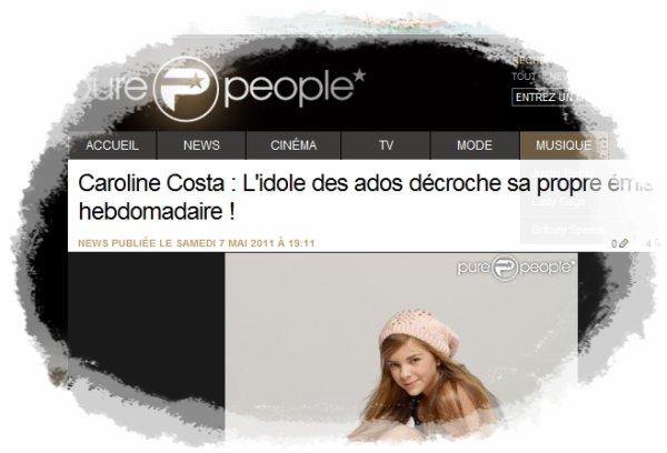 Caroline Costa, animatrice de télé en septembre ♥