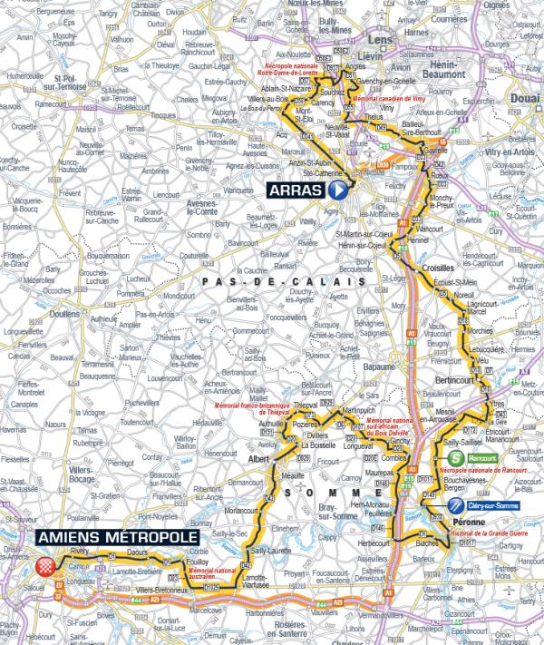 étape 5 Arras > Amiens