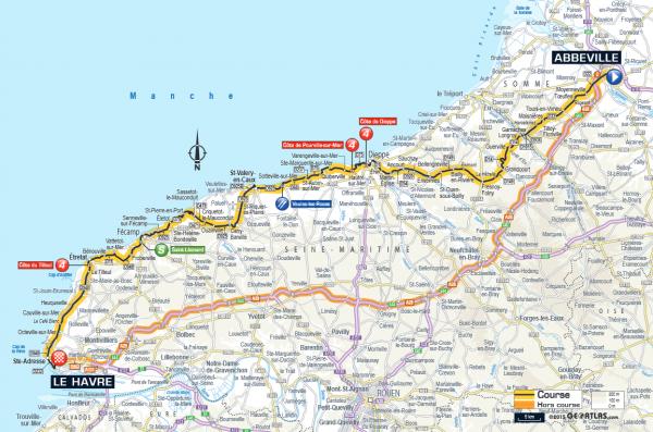 étape 6 Abbeville > le Havre