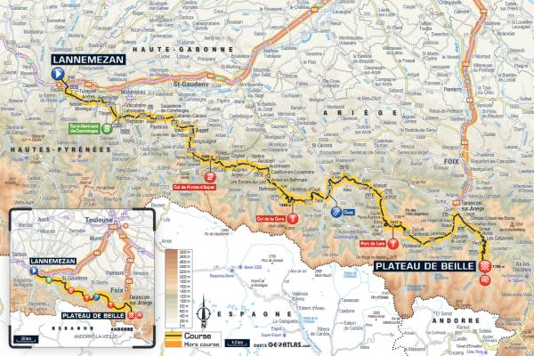 étape 12 Lannemezan > Plateau de Beille