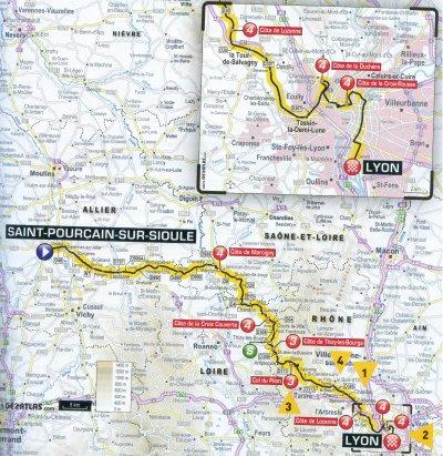étape 14 Saint Pourçain sur Sioule/Lyon