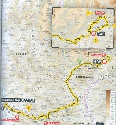 étape 16 Vaison la Romaine/Gap